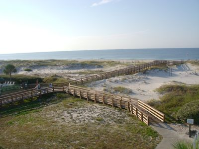 Photo for Views!  Direct Gulf Front! Come for a  weekend! 1 BD sleeps 4, 6 pools
