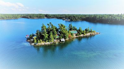 Aerial view of our Cottage & island...WOW!