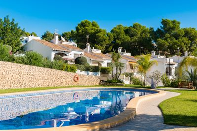 Our villa in on the left - easy access to pool