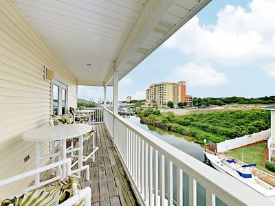 Deck - Welcome to Destin! Enjoy a private deck overlooking the canal - accessed via the master bedroom.