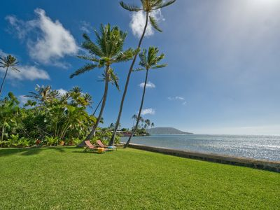 Oceanfront, Private home, Koko, Diamond Head view, East Oahu Oceanfront Jewel