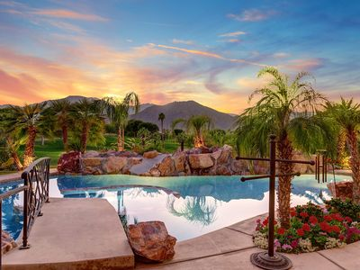 Photo for Incredible Pool looking over the Golf Course at this 3 bedroom & Casita home