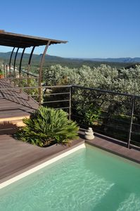 Photo for Provencal villa surrounded by olive trees, 2 swimming pools, exceptional view