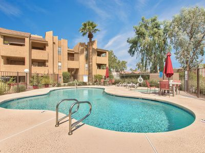 Photo for BRAND NEW TO VRBO! BEAUTIFULLY REMODELED CONDO WITH HEATED POOL, HOT TUB AND BBQ!
