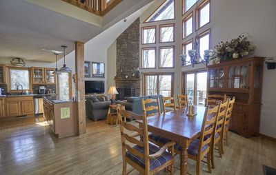 Photo for Great Escape - Wood Fireplace, tennis courts, mountain views, pool access!