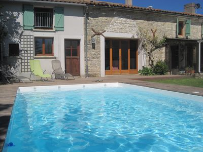 Photo for Beautiful stone village house, close to the sea, with private pool, sleeps 6