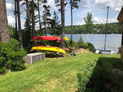 Photo for The Long House, a private, lake front house, secluded in the woods.