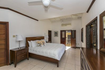 Master suite with Kingbed and  ensuite bathroom and balconies.