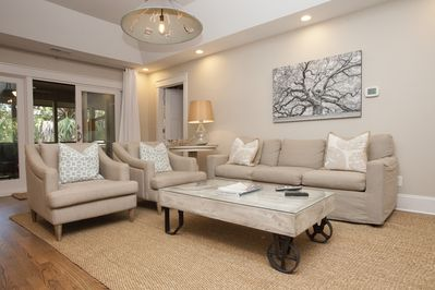 Great Room with new Stephen Shell furniture!