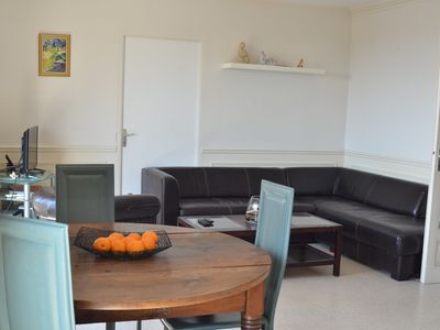 Photo for Large sea view apartment near beaches for 4 people