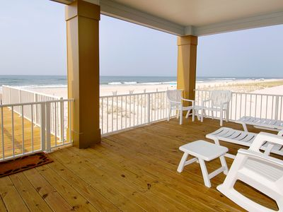Photo for Luxurious beach home with immediate Beach Access, Open Kitchen/Living Area & Private Sun Deck!