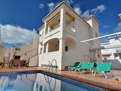 Photo for Great holiday home with Private pool in the center of Nerja - Villa Jara Canovas