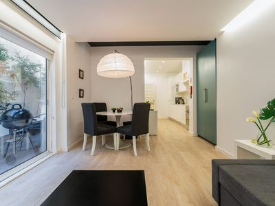 Photo for Modern one-bedroom with a terrace and bbq