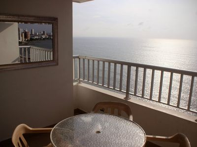 Photo for Apartment with seafront balcony and 2 bedrooms
