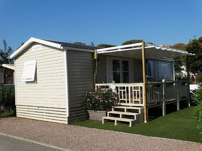 Photo for Comfortable and spacious Mobile home with terrace and private garden
