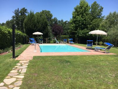 Photo for Wonderful  villa with WIFI, private pool, TV, washing machine and parking, close to Lucca
