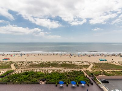 Photo for NEW LISTING! Stunning oceanfront condo w/ beach & bay views plus an indoor pool