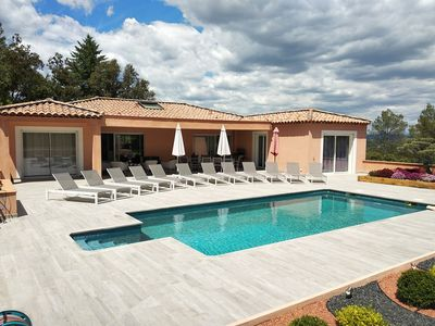Photo for SPLENDID NEW VILLA of 360m ² with HEATED SWIMMING POOL