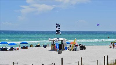Photo for 2 BR / 2 BA beach front, Sleeps 6, pool, family friendly