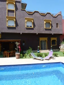 Photo for Aourir: Independent Duplex in house with pool.