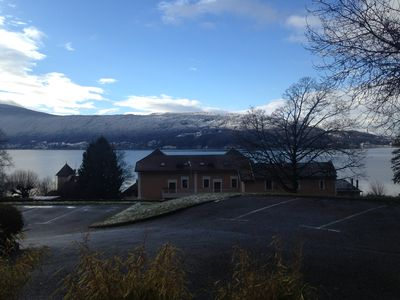 Photo for Terrace panoramic lake view and parking