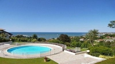 Photo for Residence Grand Standing with wooded park private pool, beach with feet sea view
