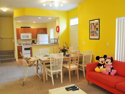 Photo for 4 Bedroom Townhome In Villas at Seven Dwarfs Lane, Sleeps Up To 8, Just 6 Miles To Disney