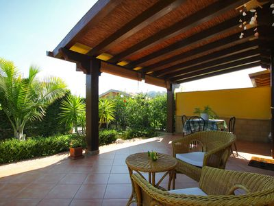 Photo for BEACH side villa for a SEA holiday near Cefalù, 2 bedrooms, Wi-Fi, AC & Garden