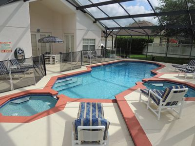 HUGE South Facing Pool with separate Spa and Kiddie Pool    Perfect for families of all ages