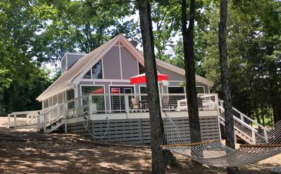 Photo for Summer Escape to Lake Cypress Springs Lakefront Cabin With Boat Slip!