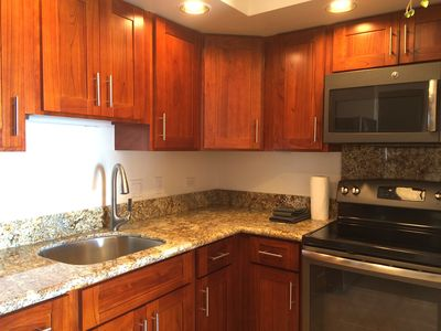 Remodeled kitchen with marble counter. Remodeled Nov 2015.It's absolutely NEW
