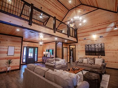 Photo for Among The Pines - five bedroom - 6 baths - sleeps 20 - privacy - national forest access
