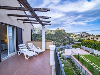 Photo for Apartment in Villa in front of Taormina