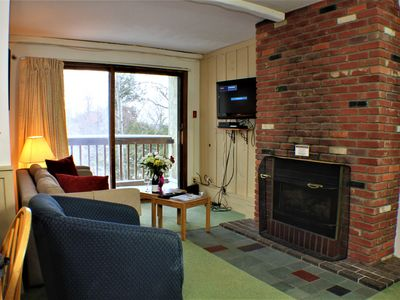 Photo for Cozy condo with fireplace & shuttle to Slopes/Ski home