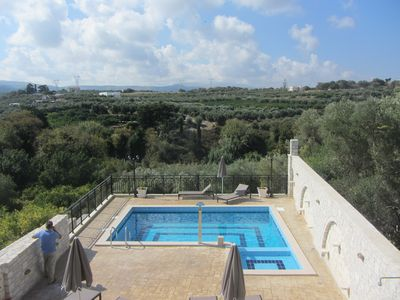 Photo for Villa with pool & beautiful views, quiet at the edge of the village Asteri