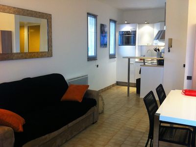 Photo for T2 apartment on beach, first line sea - standing- prox. Montpellier