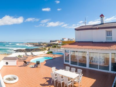 Photo for Villa Remos: Heated Private Pool, Walk to Beach, Sea Views, WiFi, Car Not Required