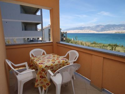 Photo for Two bedroom apartment with terrace and sea view Pag (A-6526-a)