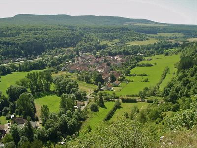 Photo for Charming village house in beautiful area, 200m from the Canal de Bourgogne