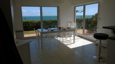 Photo for Bright villa in front of sea with superb sea view