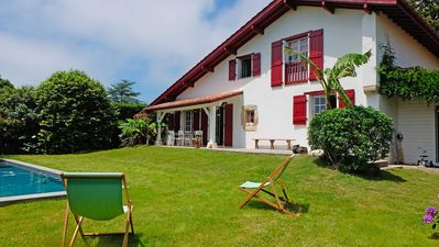 Photo for Renovated Basque farm with swimming pool
