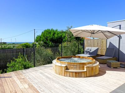 "Photo for Villa ""Beach House"" with wooden SPA, ocean view, 200m from the beach"