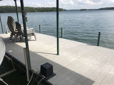 Photo for Hartwell Lake House and Dock! Boat ramp is across cove and visible from dock!