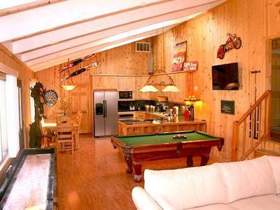 Photo for Amazing house-Pool Table, Shuffleboard, Sports-bar-like game room!