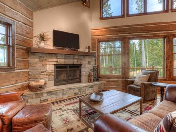 This Luxury Cabin Has it ALL. Location, Firepit, Views, Ski Access, & Hot Tub!