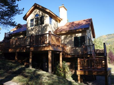Photo for Amazing Views,! Private Lake, Hot Tub, Separate Cabin, Gorgeous Setting!