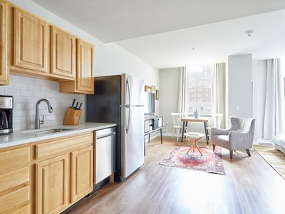 Photo for Sonder | Liberty Place | Chic Studio + Kitchen