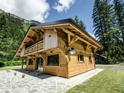 Photo for Luxury chalet located in an exceptional setting in the mountains