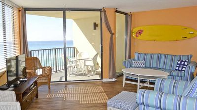 Photo for Beachfront Condo with Character + FREE Round of Drinks, Beach Chairs