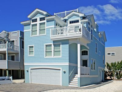 Photo for Gorgeous oceanside 4 bedroom, 3 1/2 bath custom-built home steps from the beach